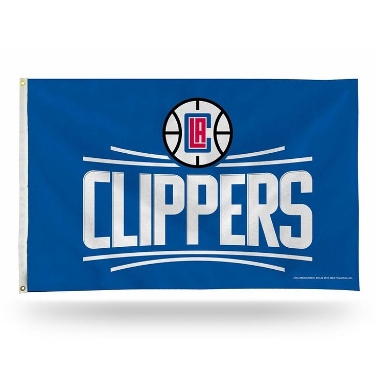 Los Angeles Clippers Banner Flag, Multicolor