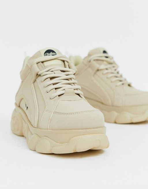super popular 4f81c 7a4ea Buffalo Colby exclusive low platform chunky sneakers in cream in 2019   w    Dad sneakers, Sneakers, Sneakers nike