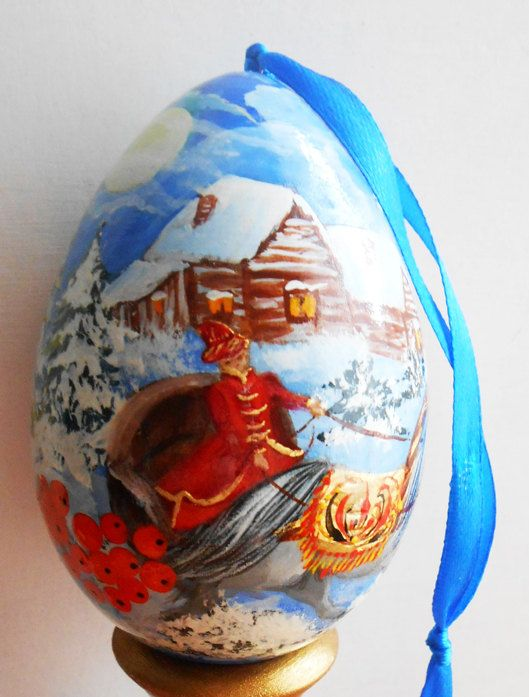 198 best russian souvenirs in traditional folk style for sell the wooden christmas egg in russian winter in by artworkshop1 negle Images