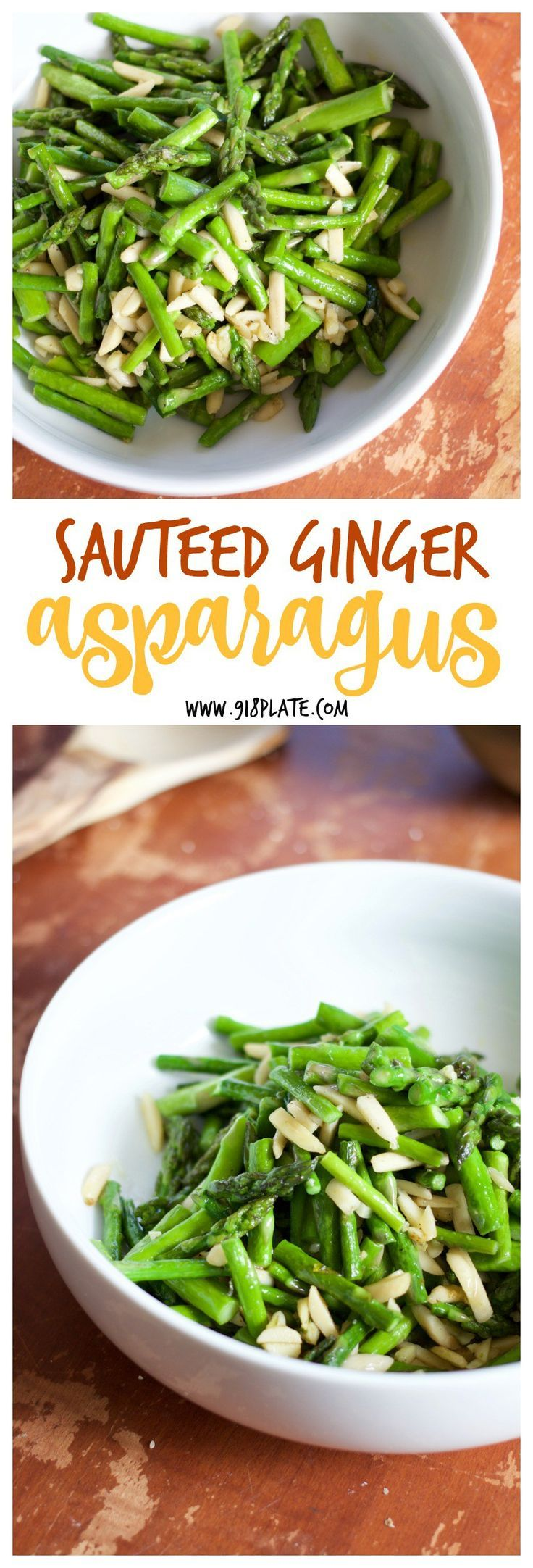 This sauteed ginger asparagus is a quick and easy side that is great on its own or mixed into your favorite dishes!