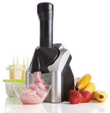 Yonanas 901 Deluxe Ice Cream Treat Maker, Black/Silver - contemporary - small kitchen appliances - Amazon