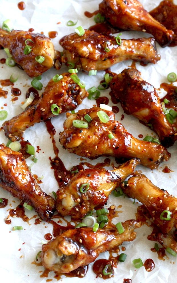 Spicy Miso Glazed Chicken Wings (with Spicy Korean Chili Seasoning) by SeasonWithSpice.com
