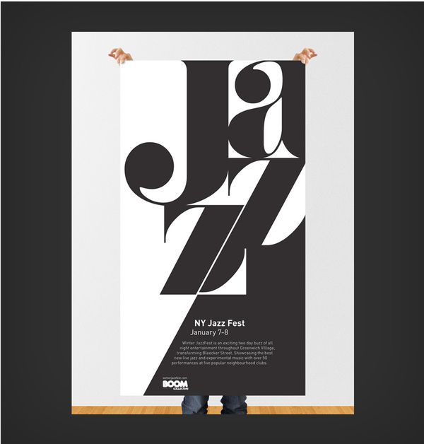 WINTER JAZZ FESTIVAL POSTER. Great use of typography ...