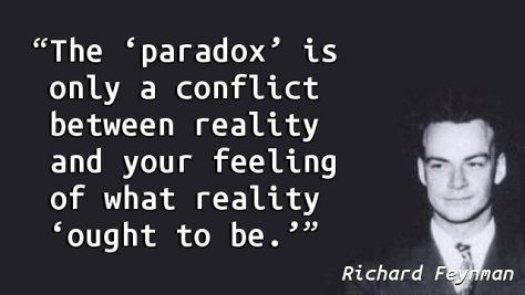 Richard Feynman - Paradox                                                                                                                                                                                 More