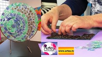 Como hacer imitacion trencadis - Acetato y adhesivo multiproposito - Lidia…