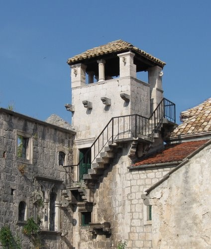 Het huis van Marco Polo op het eiland Korcula in Kroatie.
