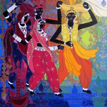 Festive Rhythm - VI by Anuradha Thakur on Artflute.com