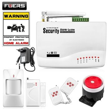 FUERS Wireless GSM Alarm System Dual Antenna GSM Home Alarm Systems with PIR Detector Russian English Voice Security Alarm kit  Price: 42.43 USD