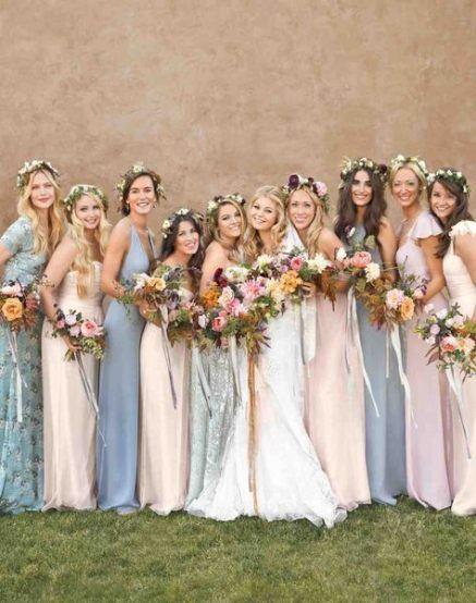 New bridal party hairstyles bridesmaid color schemes 16+ Ideas