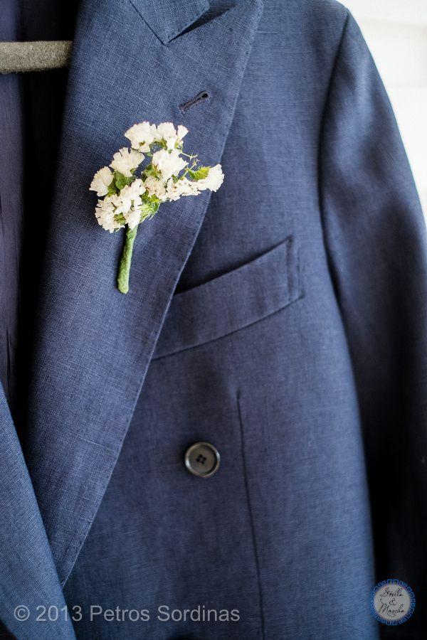 Boutonniere   Mykonos Wedding @ Santa Marina by Stella and Moscha - Exclusive Greek Island Weddings   Photo Petros Sordinas