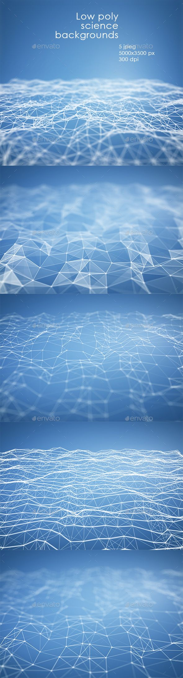 #Light blue Low poly terrain. - Abstract #Backgrounds