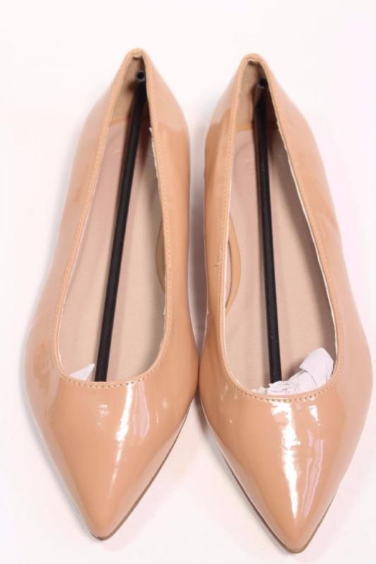 ASOS LACEY NUDE WIDE FIT POINTED BALLET FLATS PUMPS SHOES UK5 EUR38