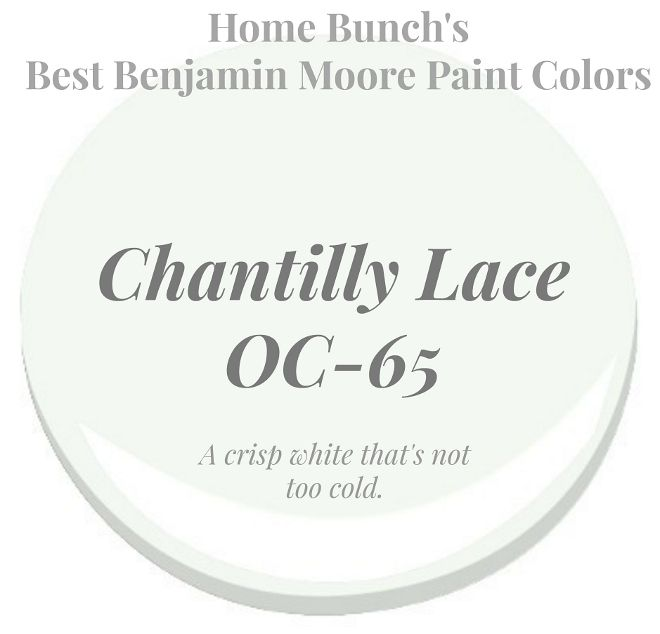 Chantilly lace oc 65 benjamin moore is a crisp white that - How cold is too cold to paint ...