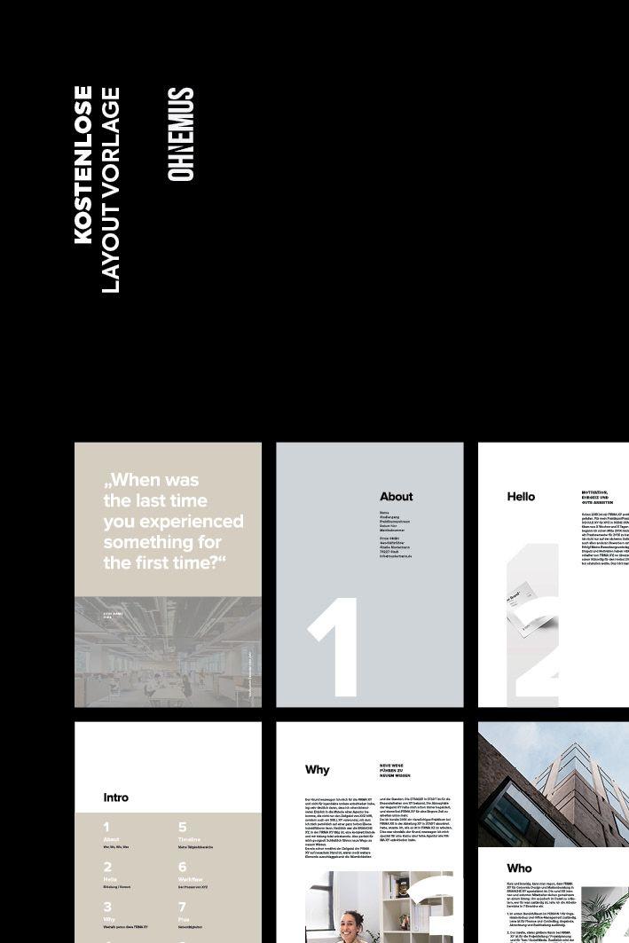 Kostenlose Layout Vorlage Editorial Design Layout Corporate Design