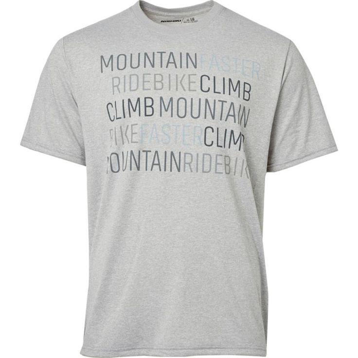 Nishiki Men's Mountain Bike Cycling T-Shirt, Size: Medium, Gray