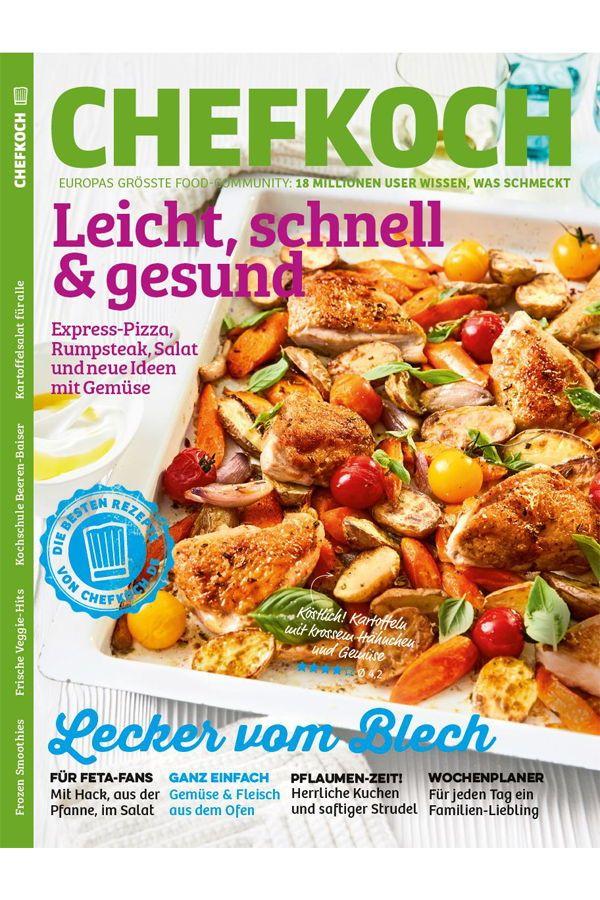 Leicht Schnell Und Gesund 3 Im Neuen Chefkoch Magazin Zeigen Wir Euch Neue Rezept Ideen Von Express Pizza Uber Rum Lebensmittel Essen Chefkoch Food Magazine