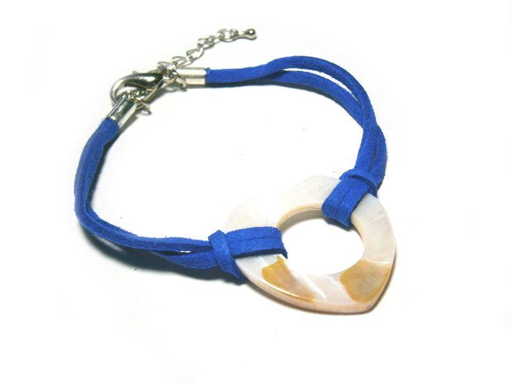 Armband+blau+Lederarmband+von+DeineSchmuckFreundin+-+Schmuck+und+Accessoires+auf+DaWanda.com