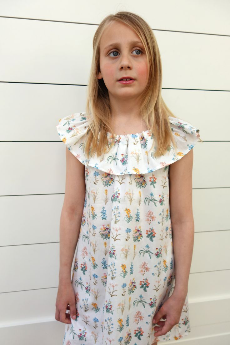 Posey Dress Ages 3-10. Made in London. 100% cotton and machine washable