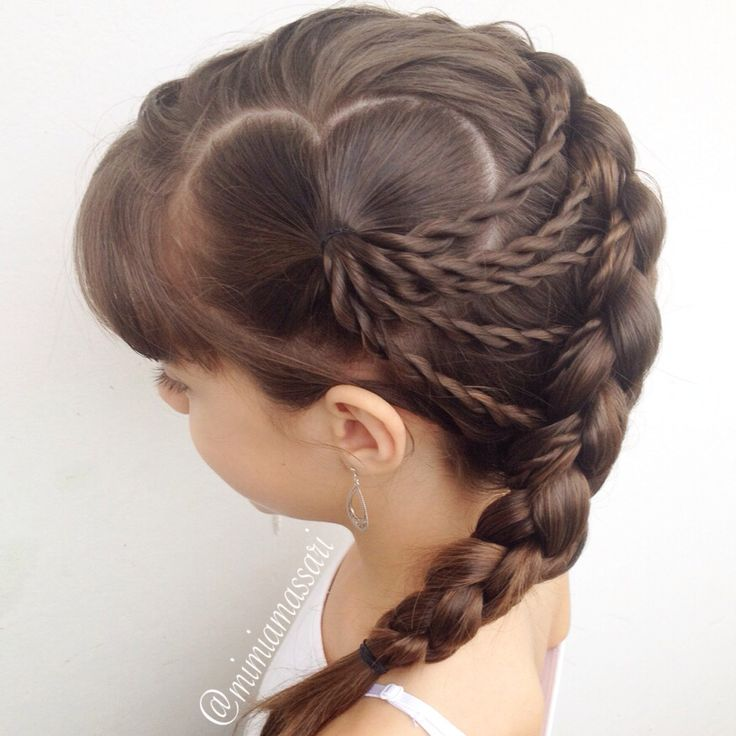 Heart parting into 3D braid by