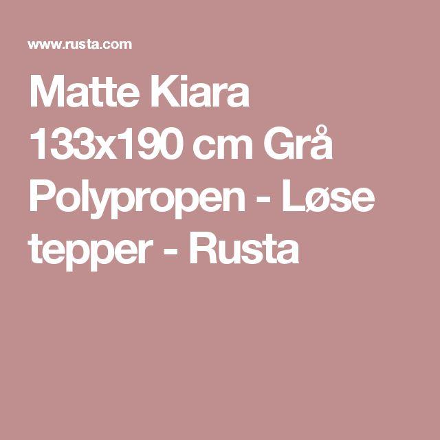 Matte Kiara 133x190 cm Grå Polypropen - Løse tepper - Rusta