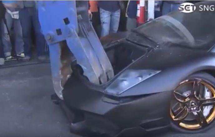 Así se destruye un Lamborghini en cuestión de minutos