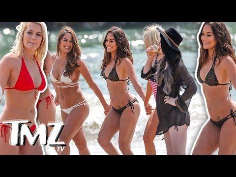 WWE Total Divas In Bikinis! (TMZ TV) - YouTube