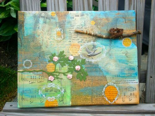 Mixed Media Canvas by Jen Matott: Memory Crafts, Crafts Ideas, Memories Crafts, Crafts Projects, Friends Only, My Friends, Fabrics Collage