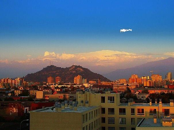 Atardecer en Santiago - Jose Barrera - http://bit.ly/6VskWZ — en Santiago, Chile.