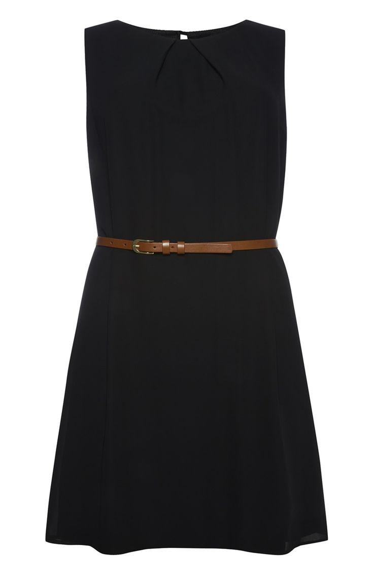 Primark - Zwart mouwloos jurkje met ceintuur