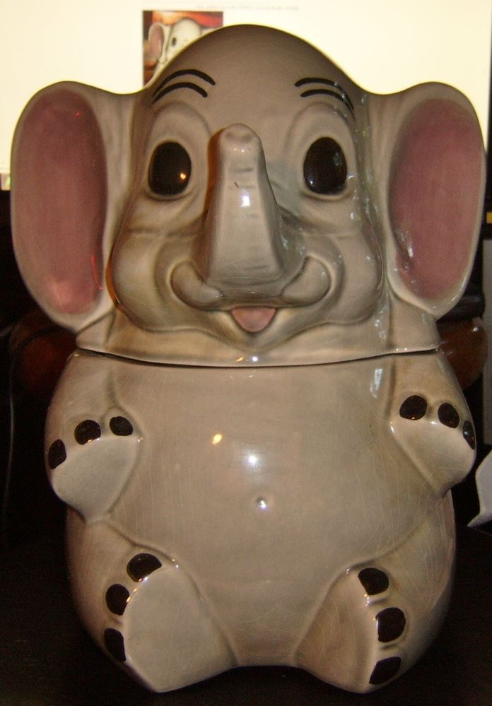 1000 images about cookie jars and assorted ceramics on pinterest jars pinocchio and pottery - Vintage elephant cookie jar ...