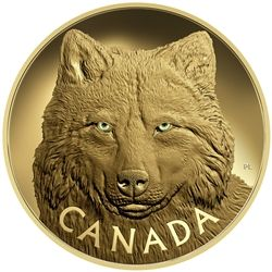 2017 Huge 1 kilogram $2500 pure gold coin In - The Eyes of the Timber Wolf.