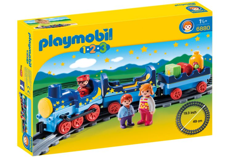 Playmobil 1.2.3 6880 - Night Train with Track