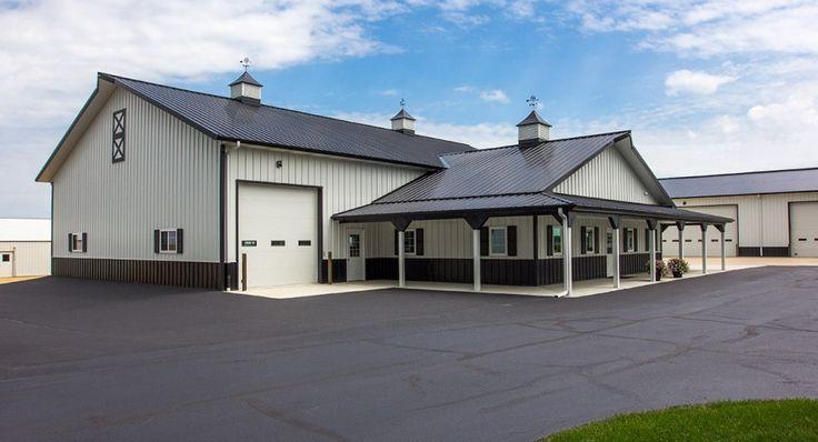 Morton buildings farm shop in chana illinois farm for Metal building office plans