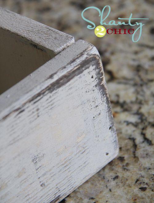 Distress paint with vaseline