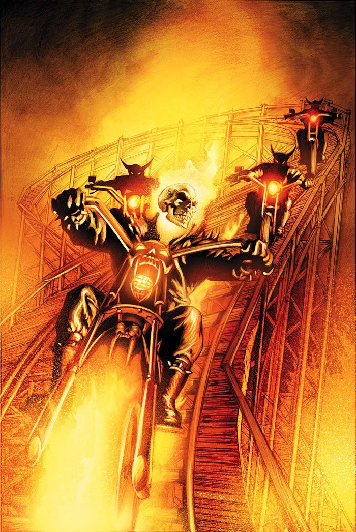 "GHOST RIDER #5  I'm amazed they never worked a ""demon motorcycle rollercoaster chase"" scene into either of the Ghost Rider movies."