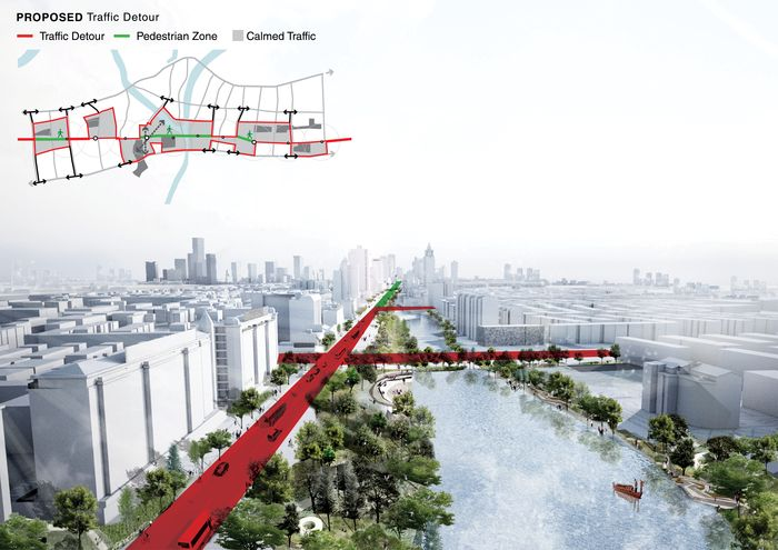 Cities in Asia, and particularly in China, are undergoing some of the world's most radical urban transformations. While they attempt to modernize, their urban fabric often disperses to the city's suburbs, and thus the historic city often loses its original character. Our proposal for Zhongshan Road seeks instead to amplify Ningbo's rich identity through a series of interventions in landscape, infrastructure, preservation and architecture. Ten kilometers of Zhongshan Road -historically…
