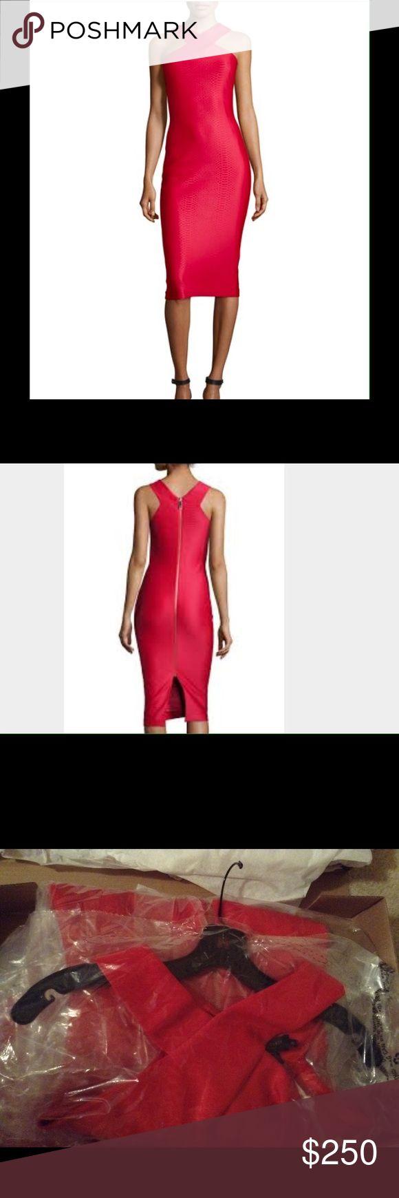 Ted Baker  Snake Jacquard dress New Ted Baker red mid dress Baker by Ted Baker Dresses Midi