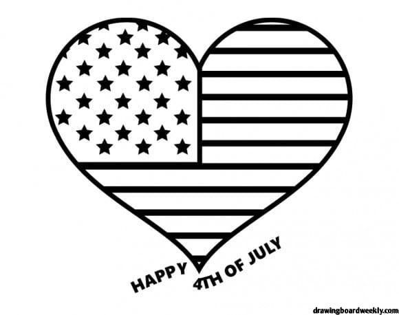 Fourth Of July Coloring Page Independence Day Colloquial July