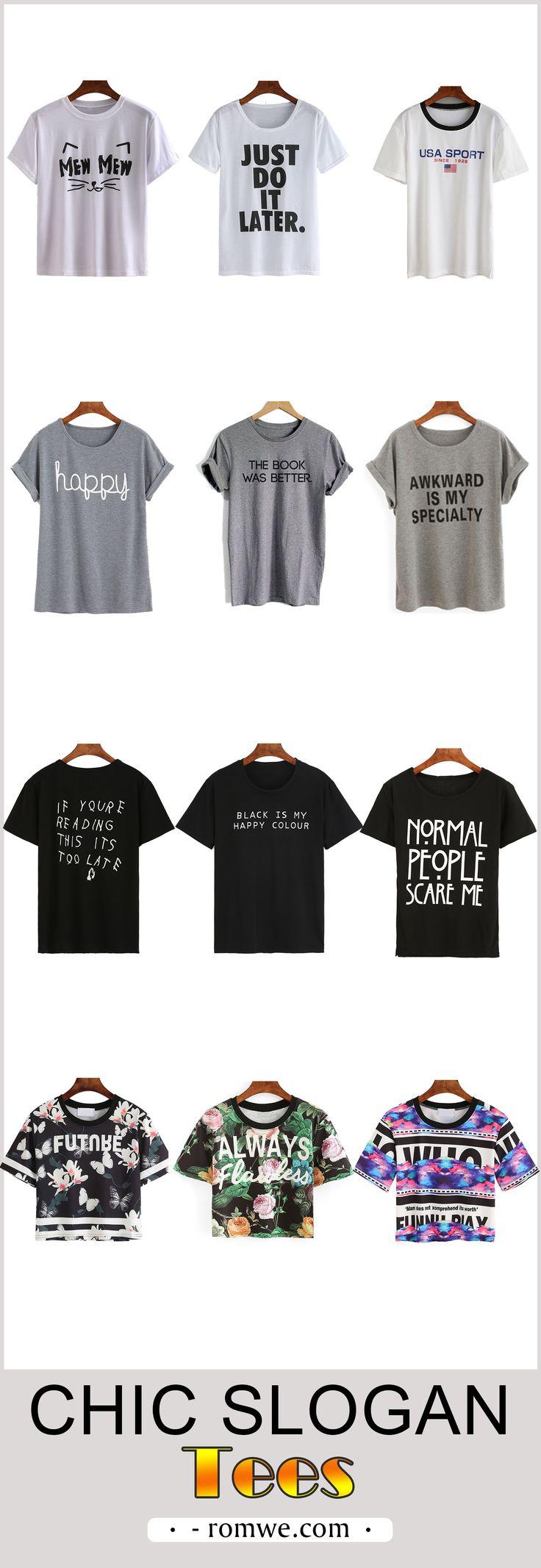 Fall Fashion - slogan tees from romwe.com