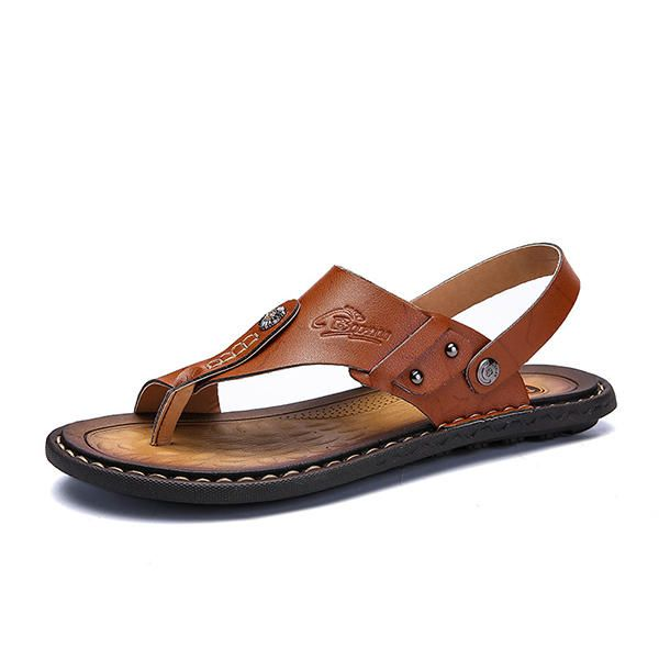 284fdcefc64a1 Men Comfortable Two Way Wear Clip Toe Slippers Sandals  Slippers  Men  Wear   Toe  Clip  Sandals  Two  Comfortable  Way