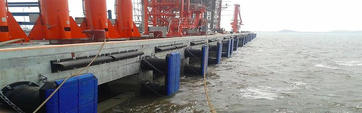 "MAX Marine Rubber Fender Systems. A marine rubber fender acts as a ""dock bumper"" to absorb the kinetic energy of a boat/vessel during berthing against a jetty or a quay wall."