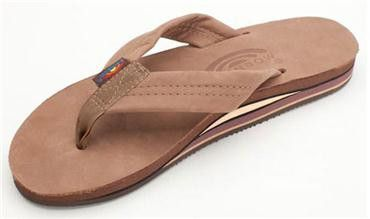 Size Medium Women's Double Layer Premier Leather Flip Flop with Arch Support....size Medium