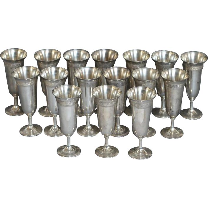 Set Of Sixteen Frank Smith Sterling Silver Goblets Http://bit.ly/