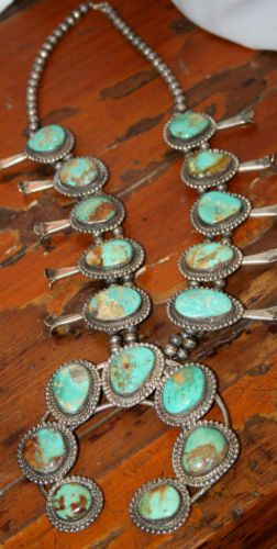 Turquoise and squash blossom