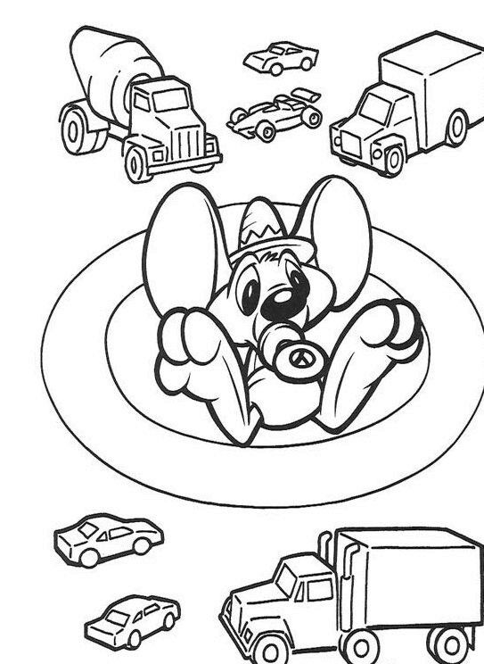 Baby Looney Tunes Color Page