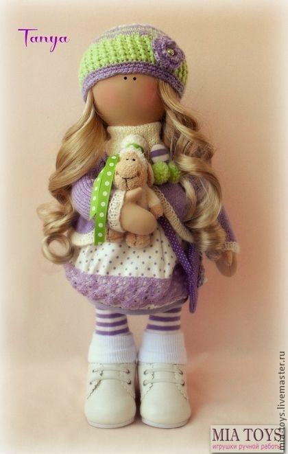Кукла Таня - сиреневый,кукла ручной работы,игрушка ручной работы,авторская кукла