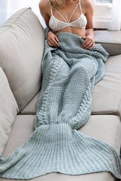 Knitted Mermaid Blanket Type 2 – BEHIND HEMLINES