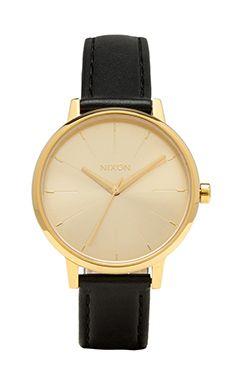 Nixon The Kensington Leather in Gold | REVOLVE
