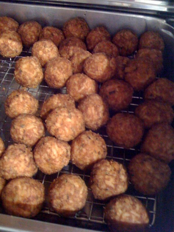 how to make crawfish boudin balls
