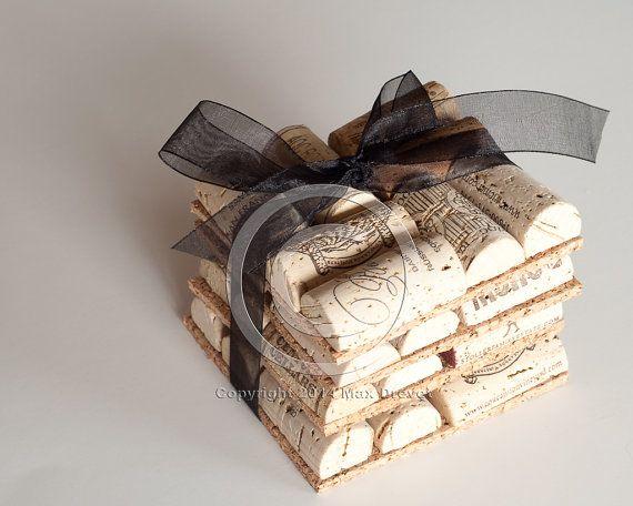 Wedding Gifts Wholesale: Wine Cork Coasters Set Of 4 Wine Cork Crafts, Wedding